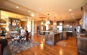 Kitchen Dining Room Living Open Floor Plan Combo Plans Elegant Choosing