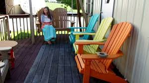 amish made poly adirondack 4 fan back porch swing youtube
