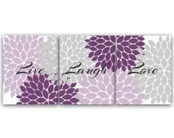 Home Decor Wall Art CANVAS And PRINTS Live Laugh Love Purple Flower