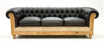 chesterfield canapé canapé chesterfield déstructuré cuir noir les nouveaux brocanteurs