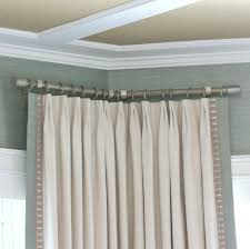 corner curtain rods ideas wow pictures