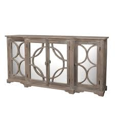 Mirrored Four Door Sideboard Gray White Finish Furniture Favorites
