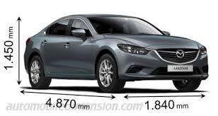 volume coffre mazda 6 dimensions des voitures mazda longueur x largeur x hauteur