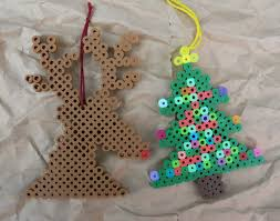 These Are The Last Of My Perler Hama Bead Christmas Ornaments For Year Say It Aint So