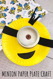 Minion Paper Plate Craft For Kids