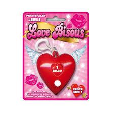 jeux de bisous au bureau gadget rigolo porte clé jeu des bisous à 3 90