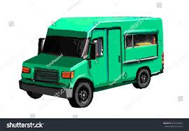 100 Green Food Truck Illustration Suitable Use RoyaltyFree