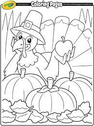 Thanksgiving Turkey Cartoon Coloring Page