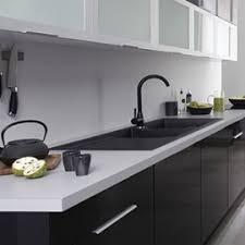 meuble de cuisine noir laqué ebène meubles de cuisine laqué noir brillant mon espace maison