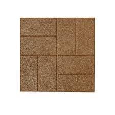 Rubber Paver Tiles Home Depot by Shop Rubberific Tan Rubber Square Patio Stone Common 16 In X 16