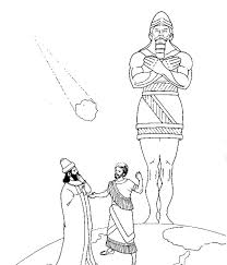 King Nebuchadnezzar Statue Of And Meteor Colouring Page