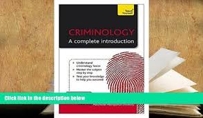 Kindle EBooks Criminology A Complete Introduction Teach Yourself PDF DOWNLOAD