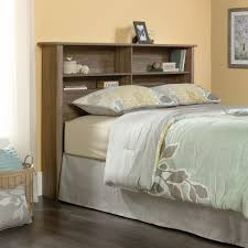Wayfair Metal Headboards King by Dark Varnished Iron Wood Low Profile Bed Frame With Tall Shelf