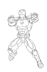 Iron Man Coloring Pages Printable Free Of Pictures To Print