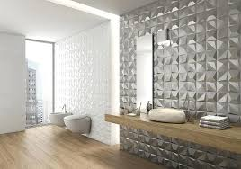 3d Tiles For Bathroom The Metallic On One Of These Walls Give