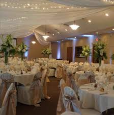 Fellowship Hall White Indoor Wedding Reception Decorations And Silver In Our Church Home Ideas