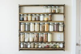 Mason Jar Pantry Shelf Organizer Kitchen Storage Shelves For Whole Food Ingredients