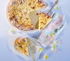 quark rhabarber kuchen mit streuseln