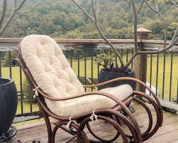 Cobblestone Wicker Indoor Rocking Chair Cushion Furniture ...
