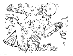 New Year Coloring Pages Free Printables 4