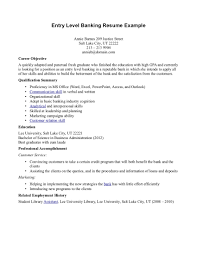 Formidable Resume Summary Examples Banking Also Objective For