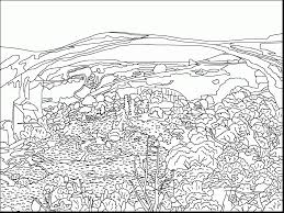 Incredible Landscape Coloring Page With Fall Pages For Adults And Free Printable Autumn