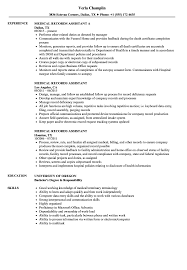 Download Medical Records Assistant Resume Sample As Image File