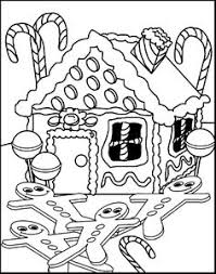 Free Printable Gingerbread House Coloring Pages