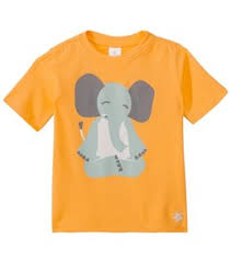 Satva Organic Elephant Lotus Kids Toddler Tee