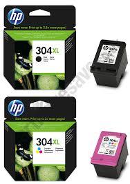 Genuine High Capacity Black Tri Colour HP 304XL Ink Cartridge Multipack