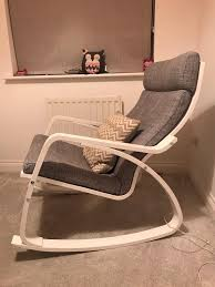Poang Ikea Great And White Nursery Rocking Chair And Footstool | In  Cumbernauld, Glasgow | Gumtree Nursery Rocking Chair Argos Rowen Gc35 Glider Walnut Joya Rocker Fniture Lazboy Delta Children Emma Upholstered Dove Grey Hcom Wooden Baby Dark Brown The Best Review Blog Where To Find Adorable Chairs For The Il Tutto Bambino Mimmie Ottoman In Snow White Legs Country Manor Classic Oak Wood Farmhouse Harper Swivel