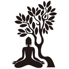Buddha Under The Bodhi Tree 3d Wall Sticker Buddhist Culture Mural Home Living Room Bedroom Decoration