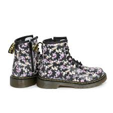 dr martens floral delaney kids leather boots sizes 10 2 ebay