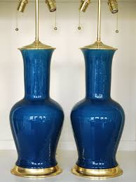 Christopher Spitzmiller Table Lamps by Christopher Spitzmiller Prussian Blue Ceramic Lamps Lamps
