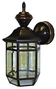 heath zenith motion activated outdoor wall light heritage bronze