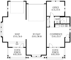 RV Garage Plan With Living Quarters