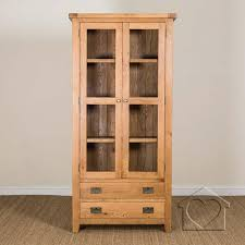Heritage Rustic Oak Display Cabinet