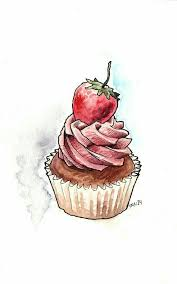 Love this artist s watercolor cupcakes