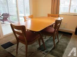 Heywood Wakefield Dining Table 4 Chairs