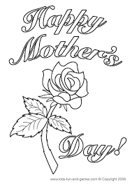 Free Mothers Day Coloring Pages Printable Sheets