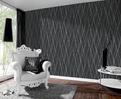 vliestapete linien schwarz silber metallic