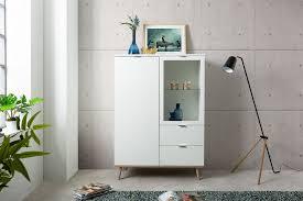 newroom highboard elia weiß sideboard skandinavisch kommode vitrine hochschrank wohnzimmer kaufen otto