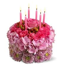 Pastel Birthday Flowers Cake