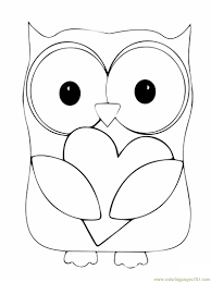 Owls Coloring Pages With Owl Page