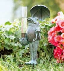 Decorative Outdoor Rain Gauges by Garden Rain Gauge With Fish And Glass Tube By Plow U0026 Hearth