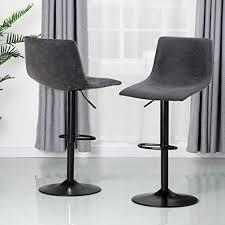 alpha home barhocker höhenverstellbar 360 grad drehstuhl modern quadratisch pu leder küche thekenhocker esszimmerstühle set mit 1 kg