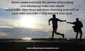 Achievable Objectives And Then Cheering Yourself On Each Time You Take A Step Toward Your Goal Jed Jurchenko Coffee Shop Conversations Psychology