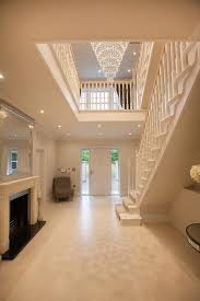 design entry traditional with grand entrance wooden railing