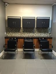 Hair Salon Decor Ideas by Like The Look Of Counter Marble Shampoo Holder Open Cabinets
