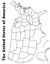 United States Map Coloring Page Printable Pages Free